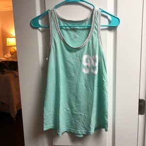 SO mint green tank
